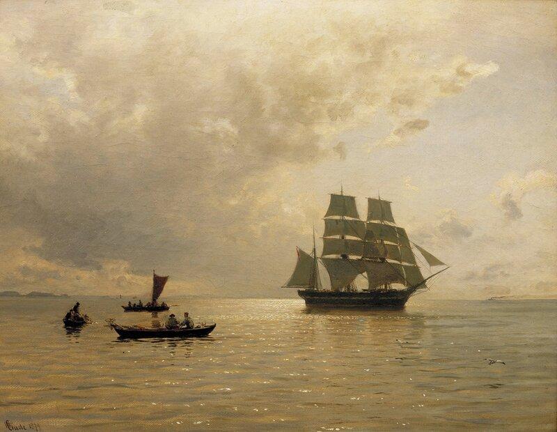 Havblikk ved Kristianiafjorden 1879