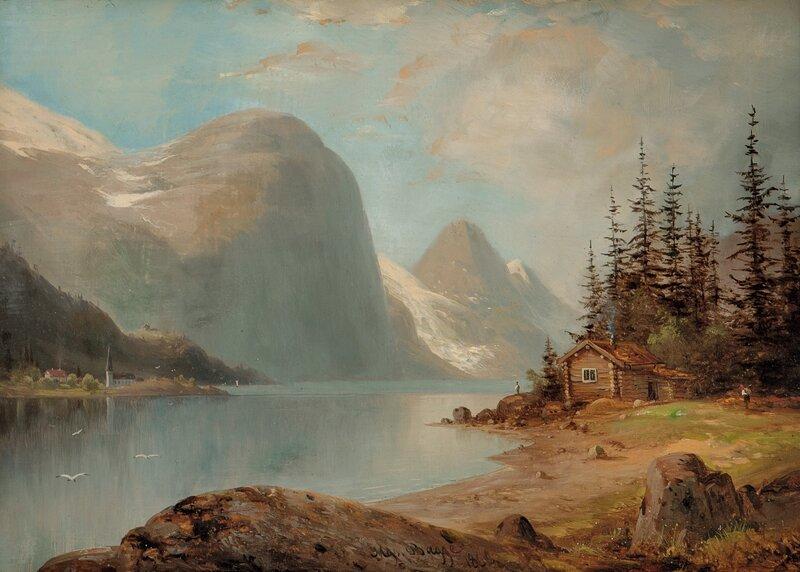 Fjordlandskap, Vestlandet 1866