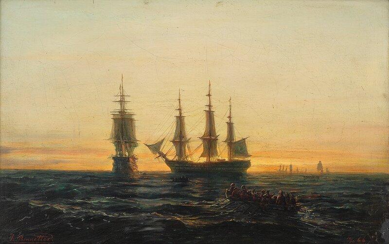 Robåter og seilskuter 1866