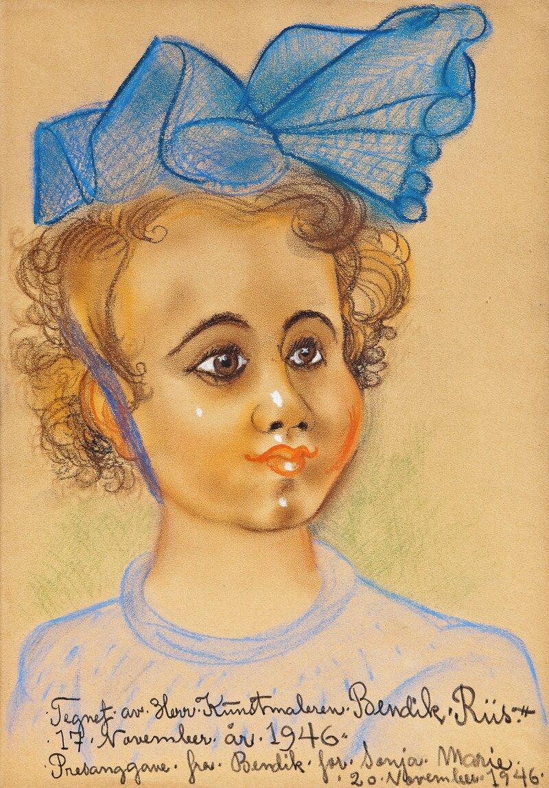 Portrett av Sonja Marie 1946