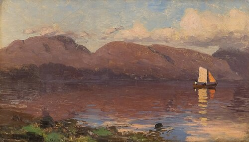 Solnedgang Sognefjord 1887
