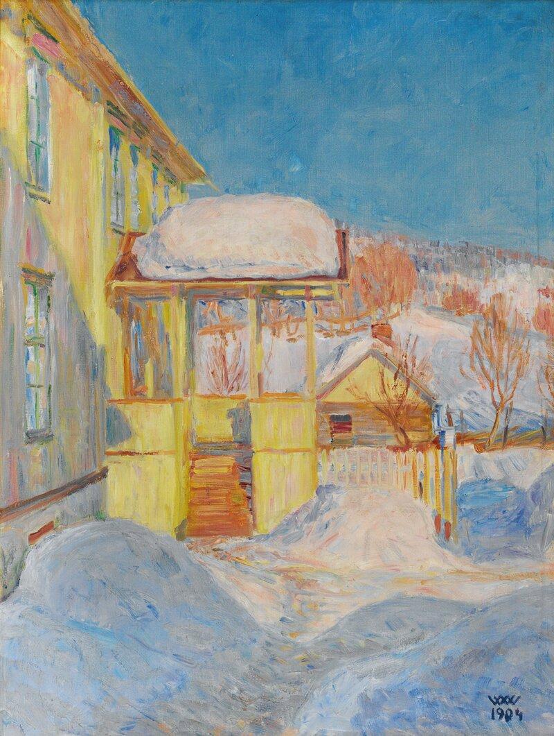 Gårdstun, Lillehammer vinter 1904