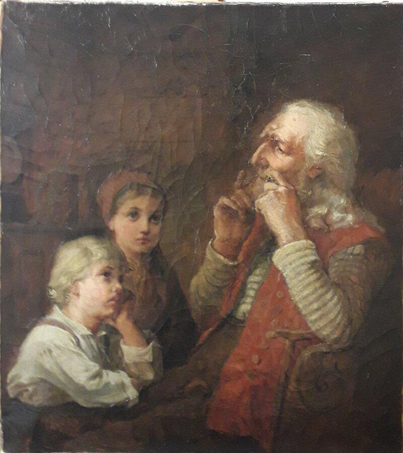 Bestefar spiller munnharpe 1874