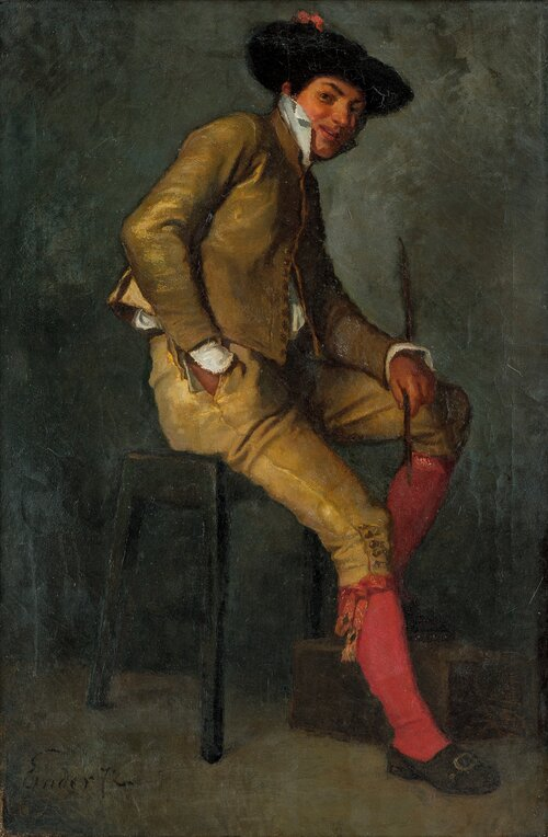 Seated Young Man 1872