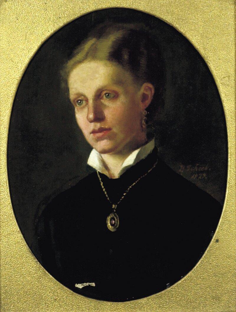 Portrett av Johanne Henrikke Scheel 1879