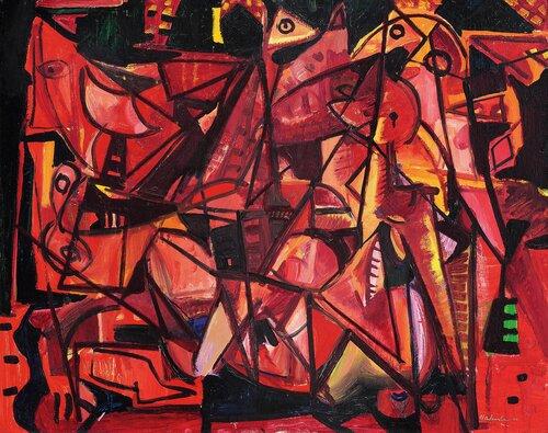 Figurer i rødt 1947