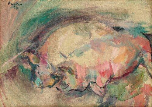 To liggende griser, Staur 1924