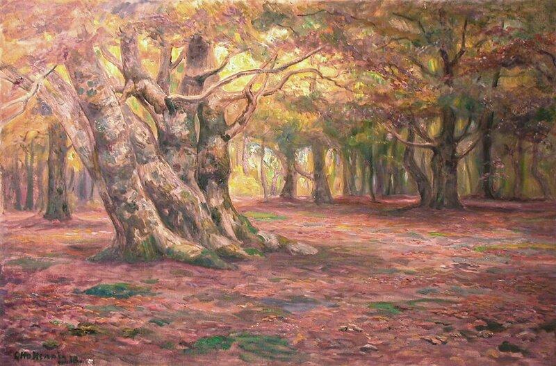 Gammel bøkeskog, høst 1918