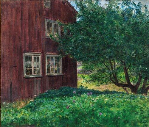 Fra Sandøya, Tvedestrand. Gammelt Sørlandshus 1925