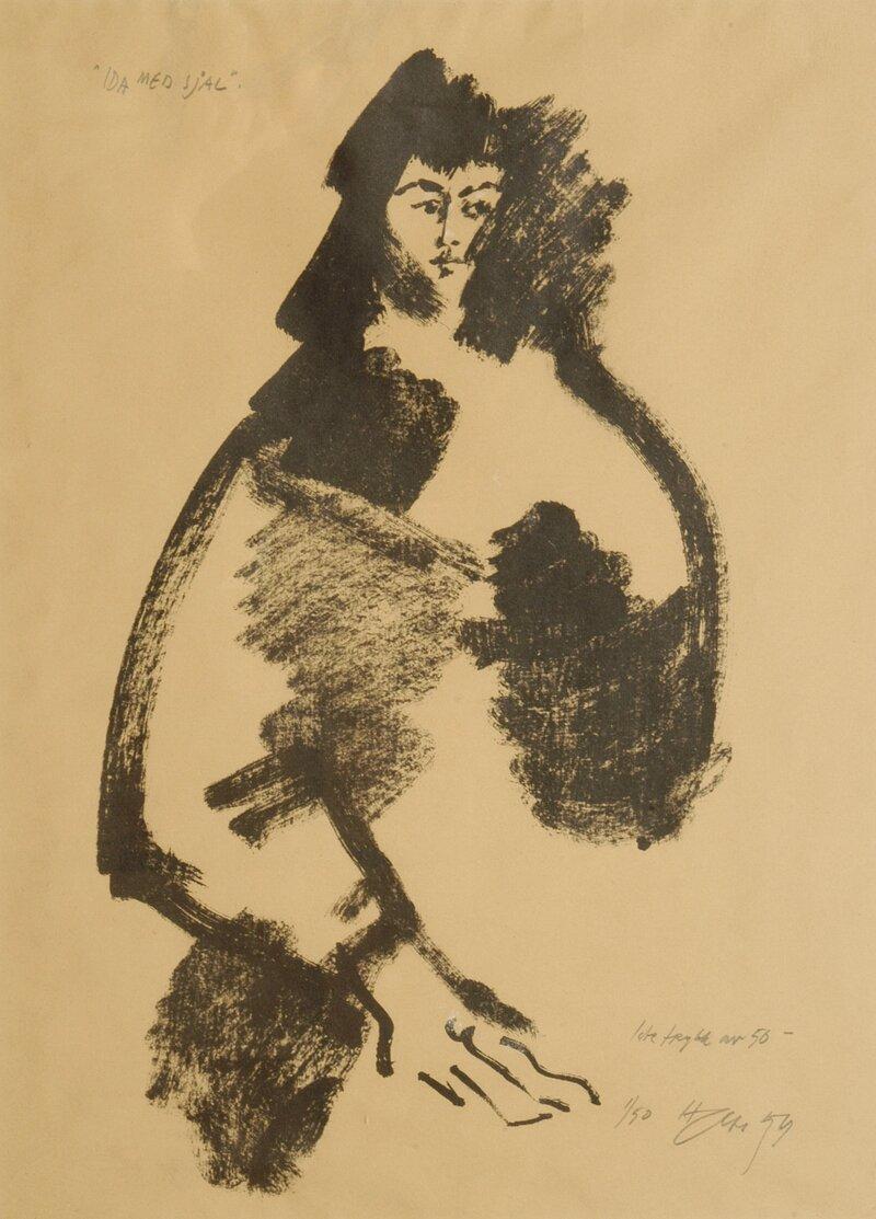 Ida med sjal 1959