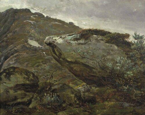 Stenstudie fra Nystuen på Filefjell 1850