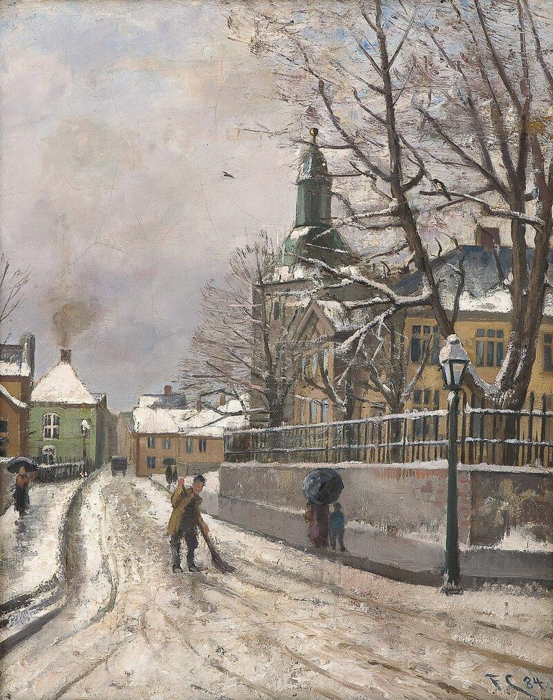 Bergens Katedralskole og Domkirken 1884