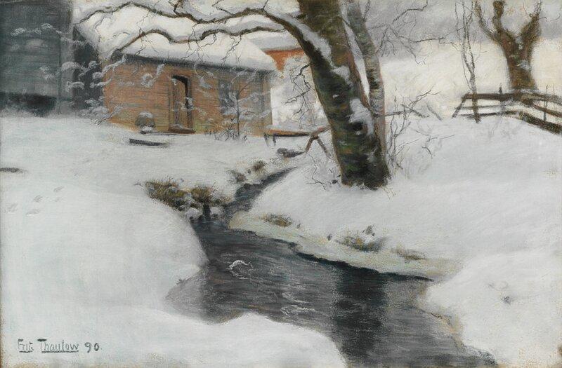 Vinterlandskap, fra Stord 1890