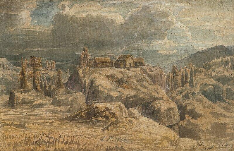 Landskap med seter 1856