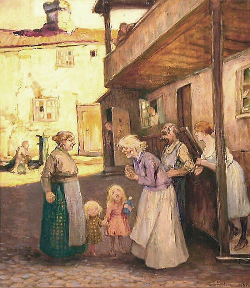 Sinna kjerring på Hammersborg 1930
