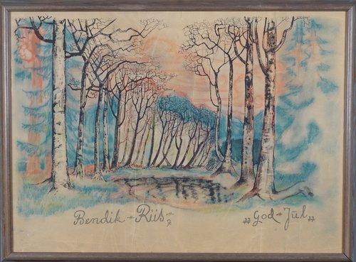 Bjerketrær, God Jul 1948-49