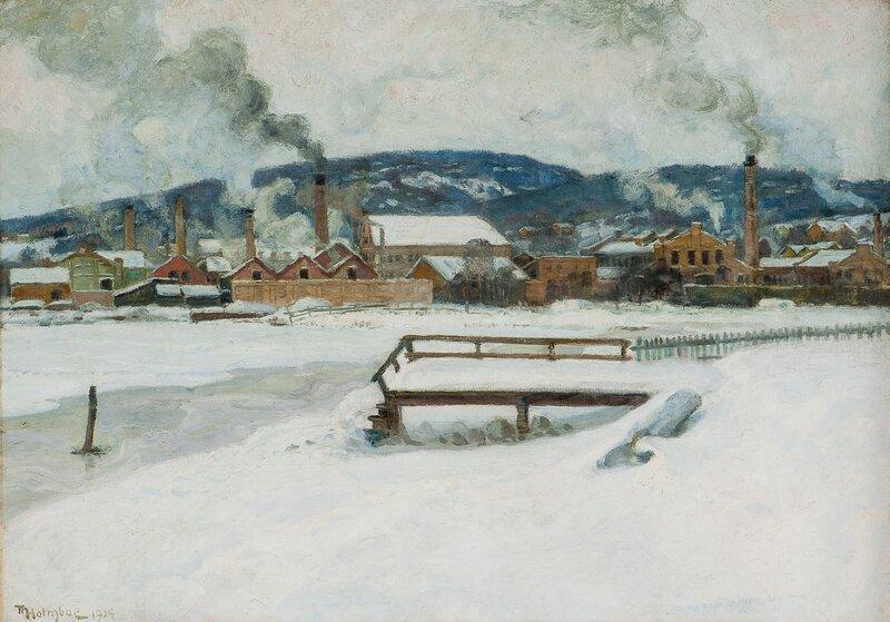 Fra Brakerøya industriområde i Drammen 1904
