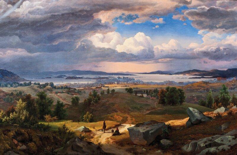 Utsyn over Christiania fra Sinsenbakken 1846