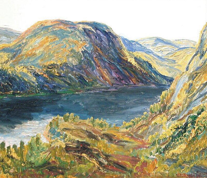Høstmorgen ved Bossvatn 1964