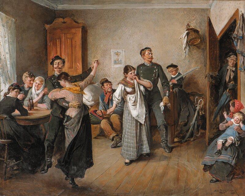 Dans på Lemmen 1892