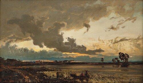 Landskap med innsjø 1878