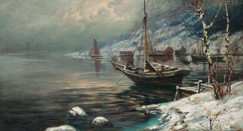 Vinter ved fjorden