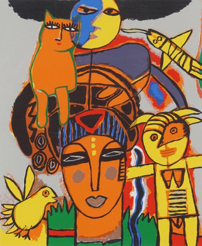 Afrikansk dame 1996