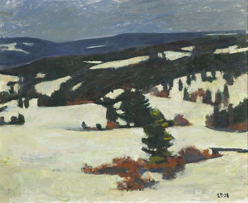 Vinterlandskap 1958