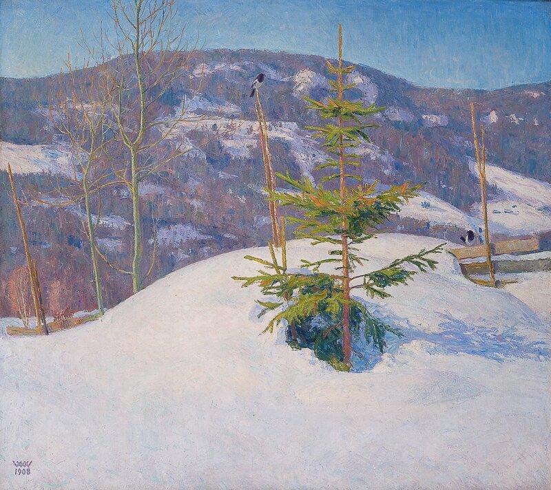Et grantre, vinter 1908
