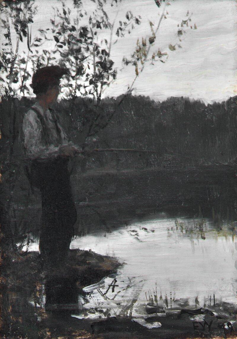 Gutt som fisker 1879