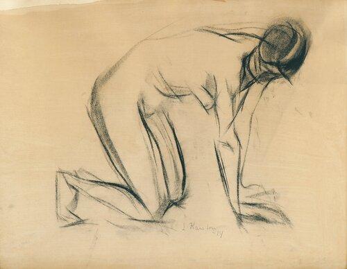 Knelende akt 1914