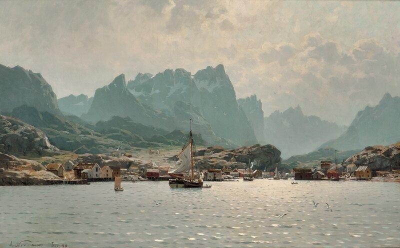 Fra Reine i Lofoten 1880