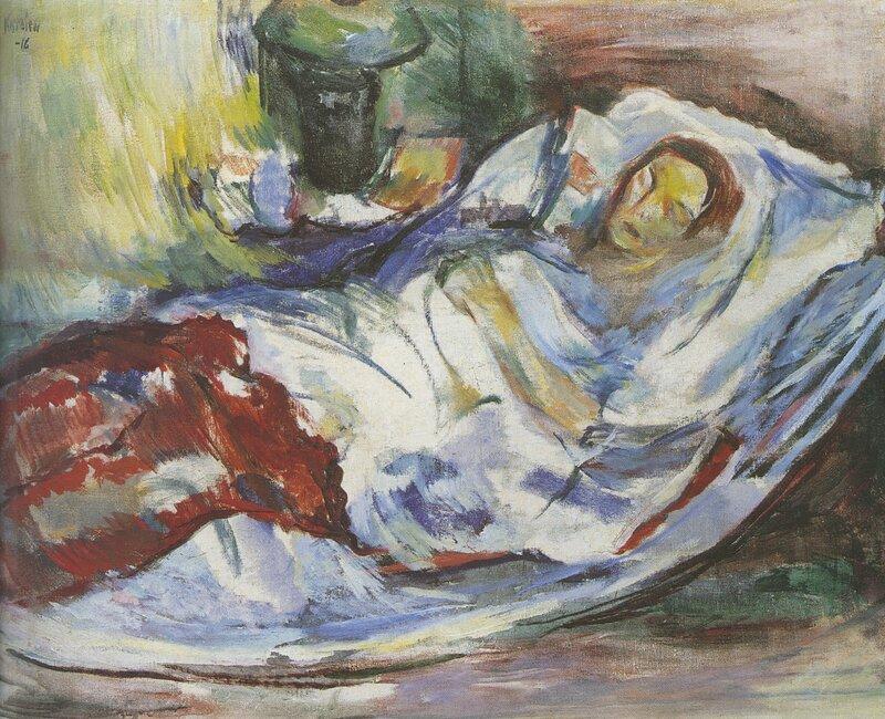 Hvilende kvinne  1916