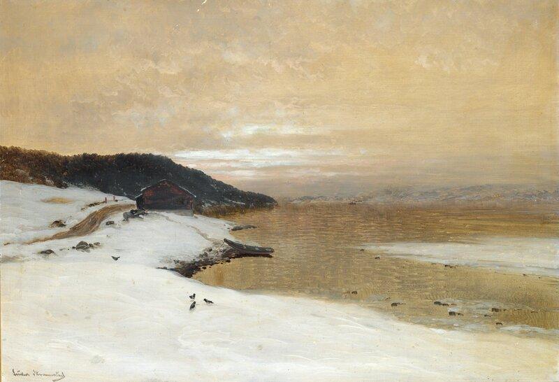 Fjordlandskap, vinter