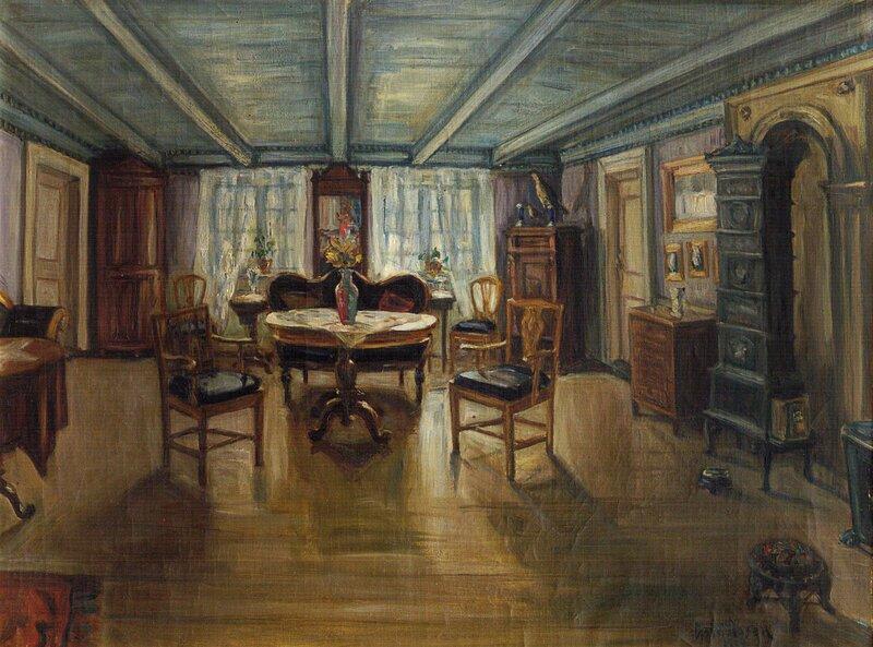 Fra salen Munkegaten 24 Trondhjem 1919