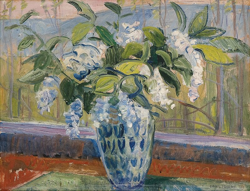 Vårblomster i vase 1919