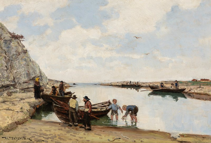 People on the Shore 1885
