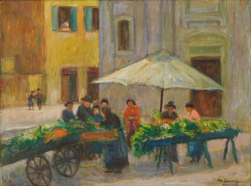 Et lite torg i Roma 1929