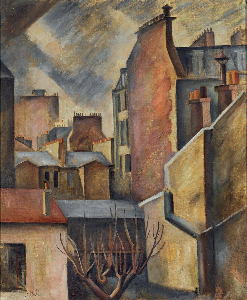 Bylandskap, fra Rue St. Honore i Paris