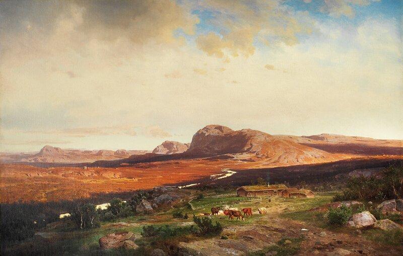 Solnedgang på fjellet 1869
