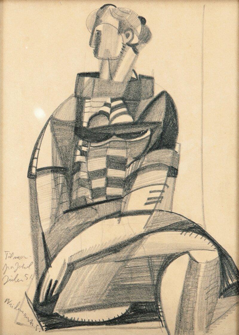 Sittende kvinne 1950