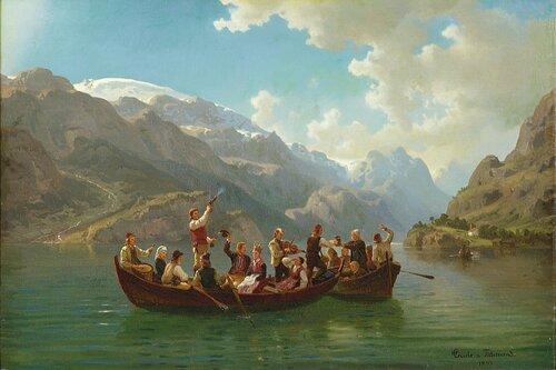 Brudeferden i Hardanger 1853