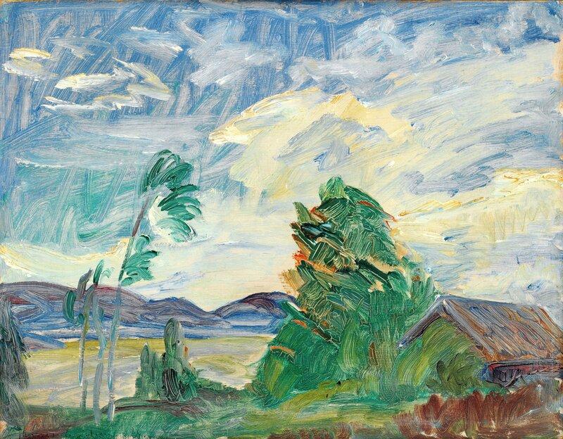 Fra Støa i Holmsbu 1924