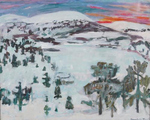 Fra Sjusjøen ved Lillehammer januar 1941