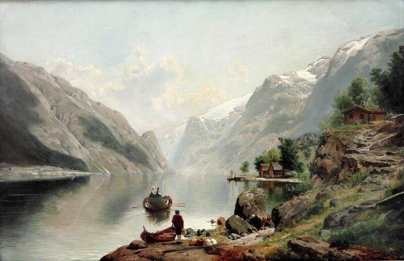 Fra Sørfjorden i Hardanger 1880
