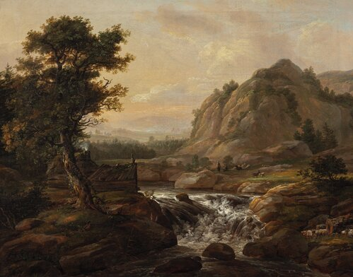 Imaginary Landscape with a Waterfall 1816