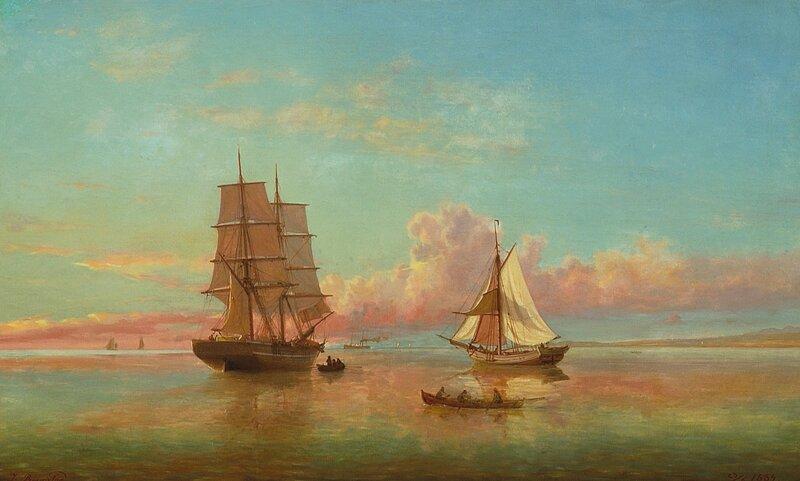 Skuter i smul sjø 1889