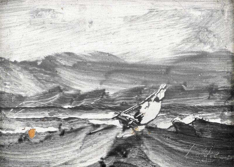 Seilbåt på opprørt hav