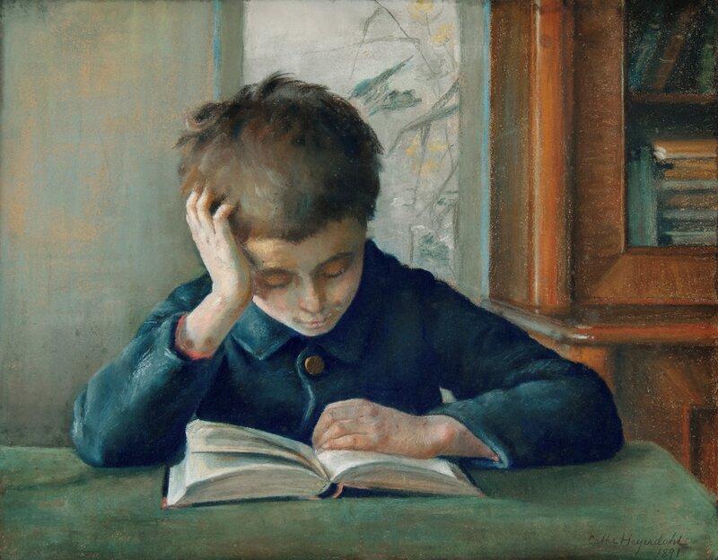 Lesende gutt 1891