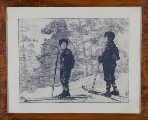 To gutter på ski 1912